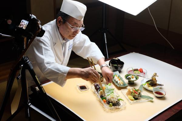 ふく料理季節料理・旬楽館・鮑とオコゼ