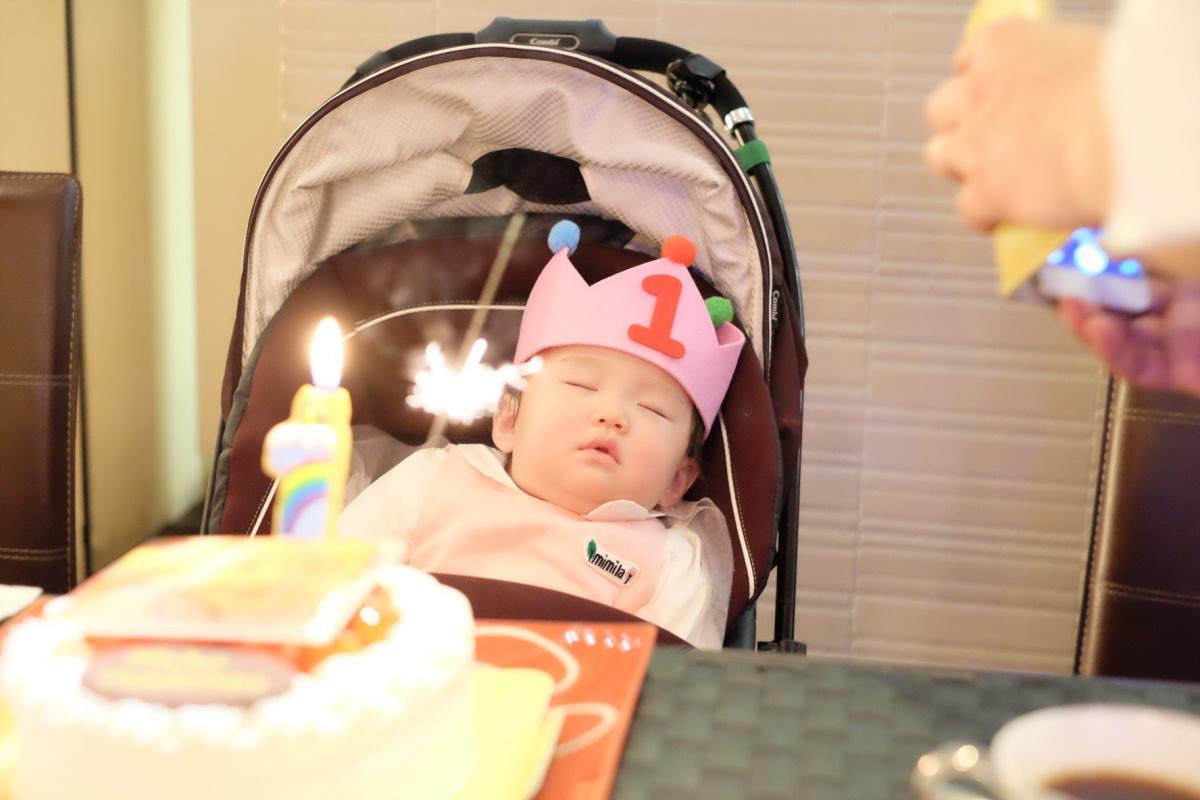 ブルーエトワールで菓子工房na.nanの良太郎さんファミリーに1歳のお誕生日会して頂きました!