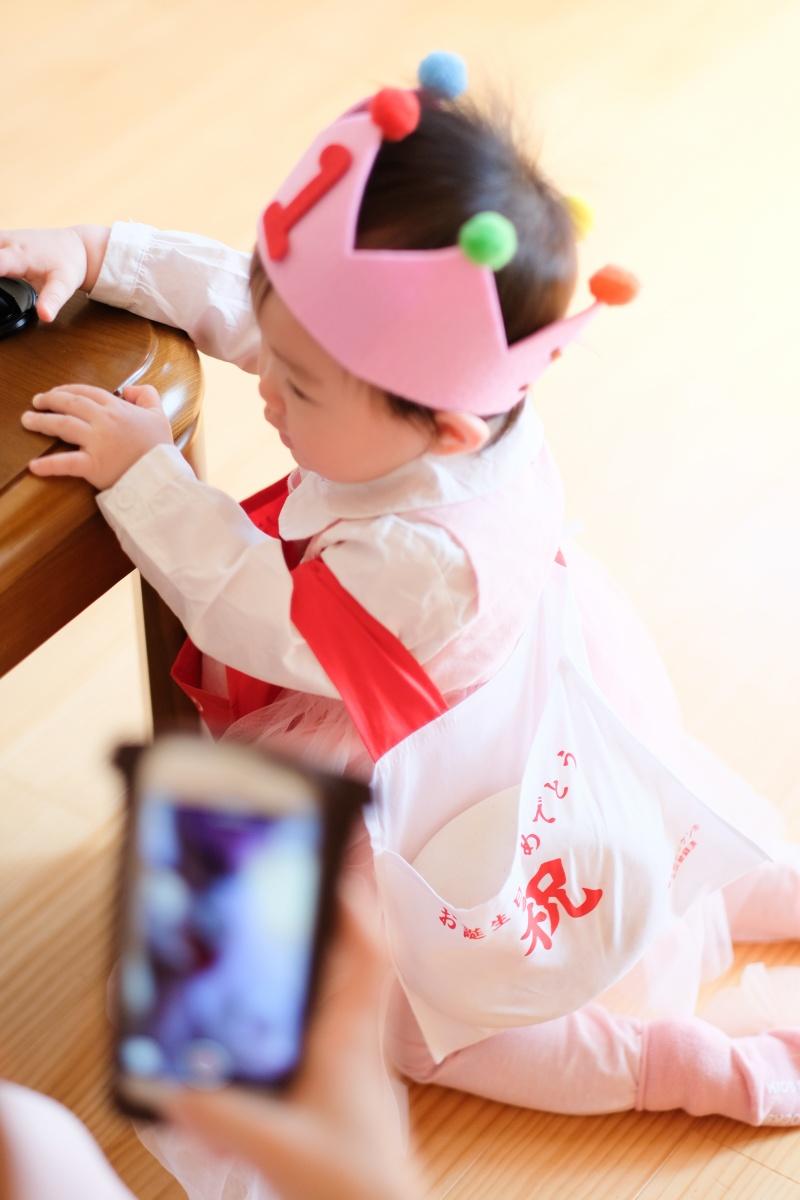 洋菓子のフランソワで1歳の誕生日に一升のお餅でお祝いする行事をする