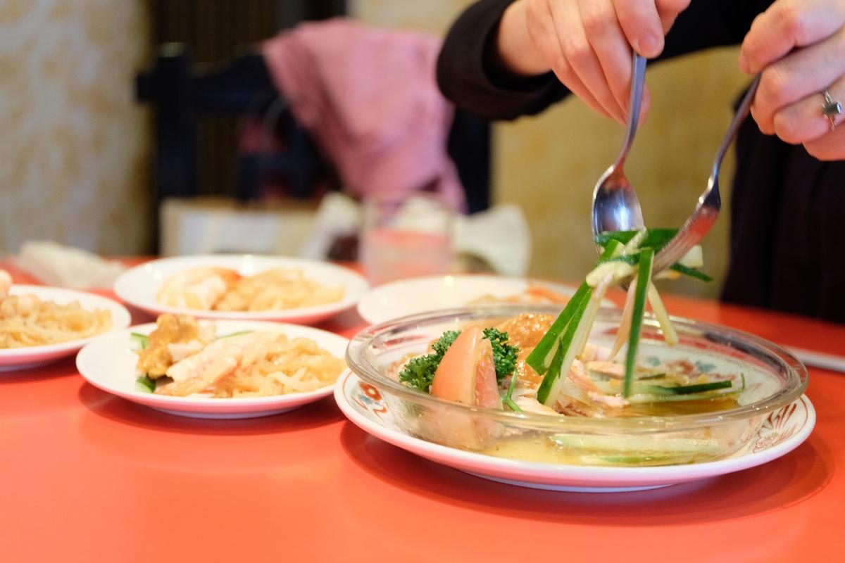 東京からのお客様に連れて行って頂いた道場門前にある中華料理天府へ