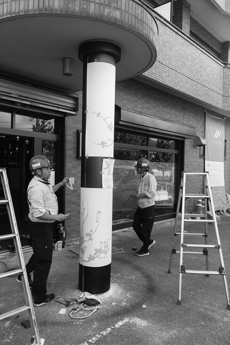 6月にオープンする「Chinese Kitchen 貴」厨房器具搬入設置とサイン工事
