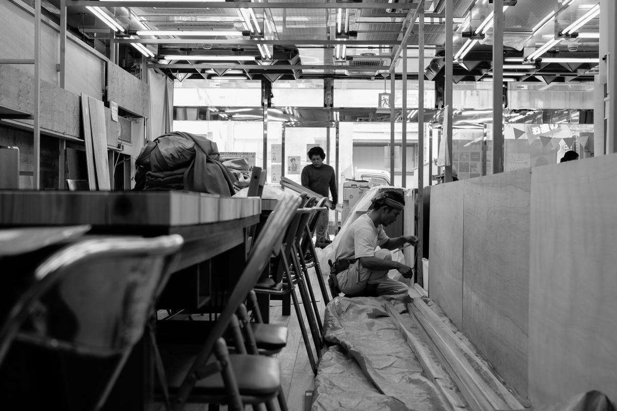 いよいよ唐戸商店街に開設する創業支援カフェ「KARASTA.」着工!