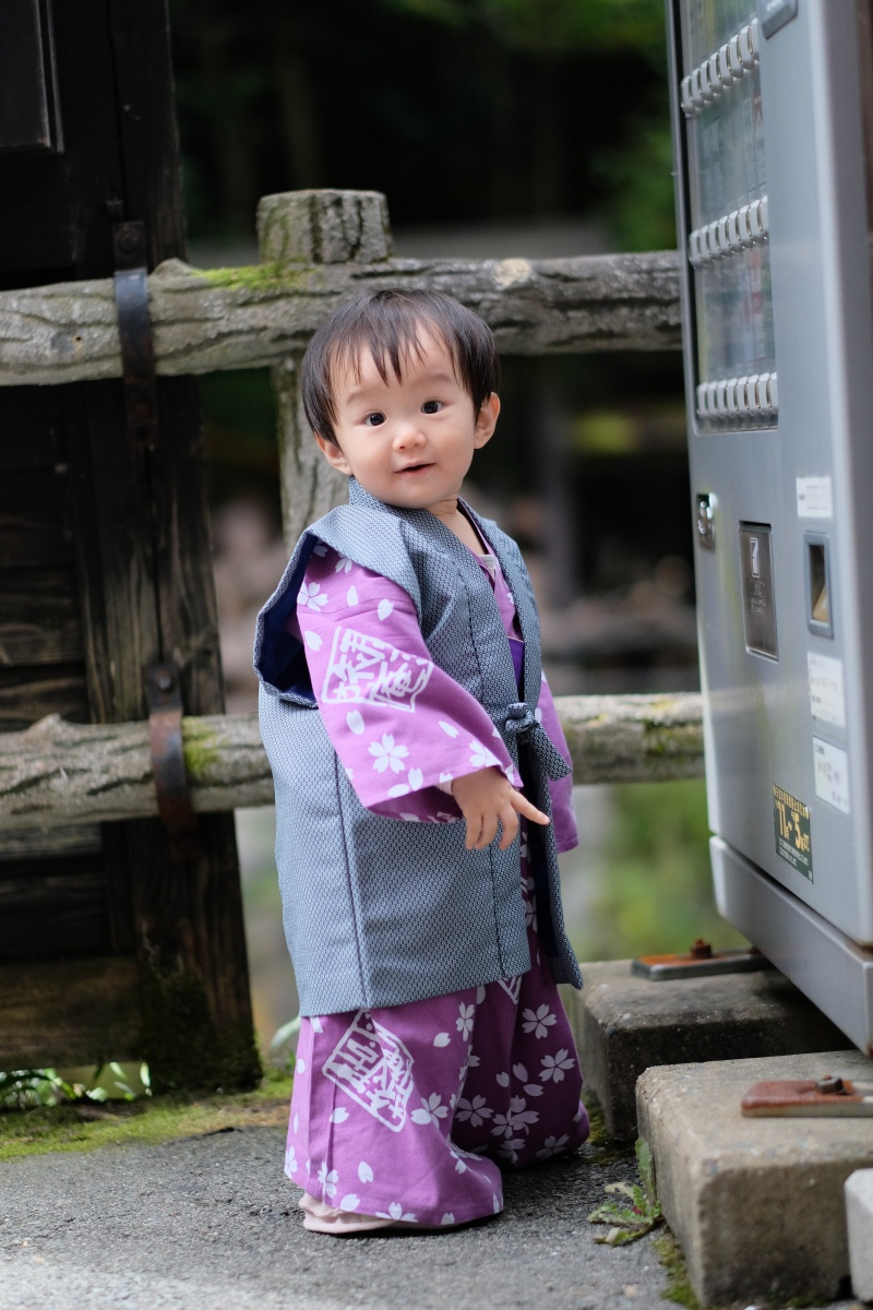 「パパと姫ちゃん日記」第二話 黒川温泉郷内を小さい浴衣で散策中