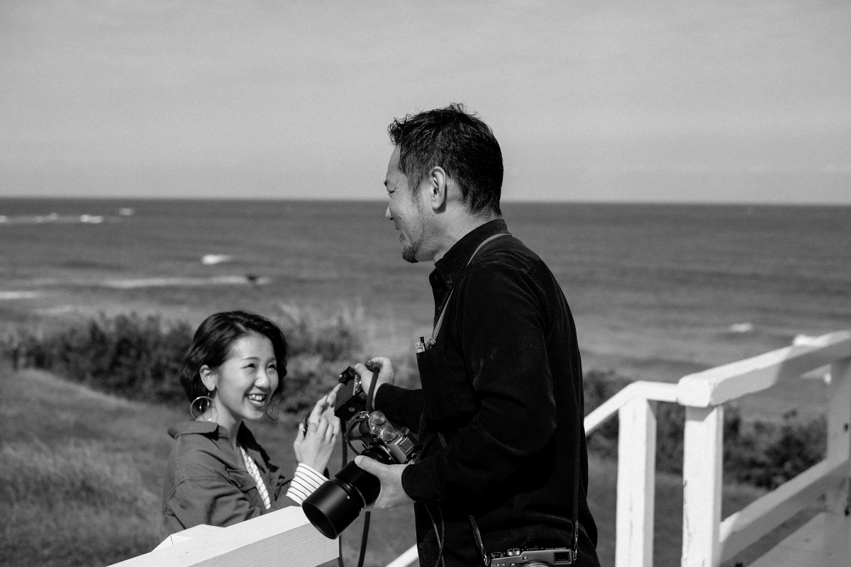 前編「しおかぜの里角島」レンタルサイクルで角島の自然を満喫!夢崎コースでモデル撮影中!