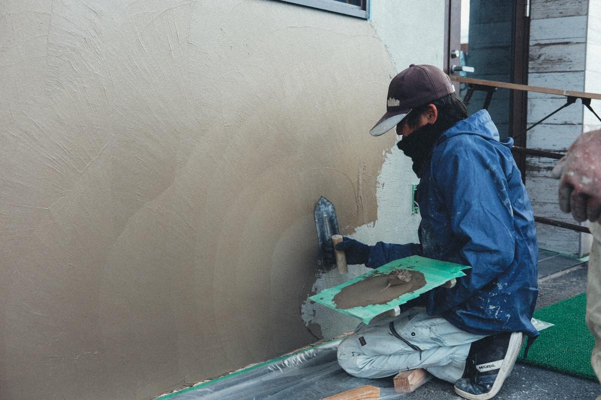 「素材感」を表現した素のデザインコンセプト下関市綾羅木本町にオープンする美容室の工事のウラ側見せちゃいます!