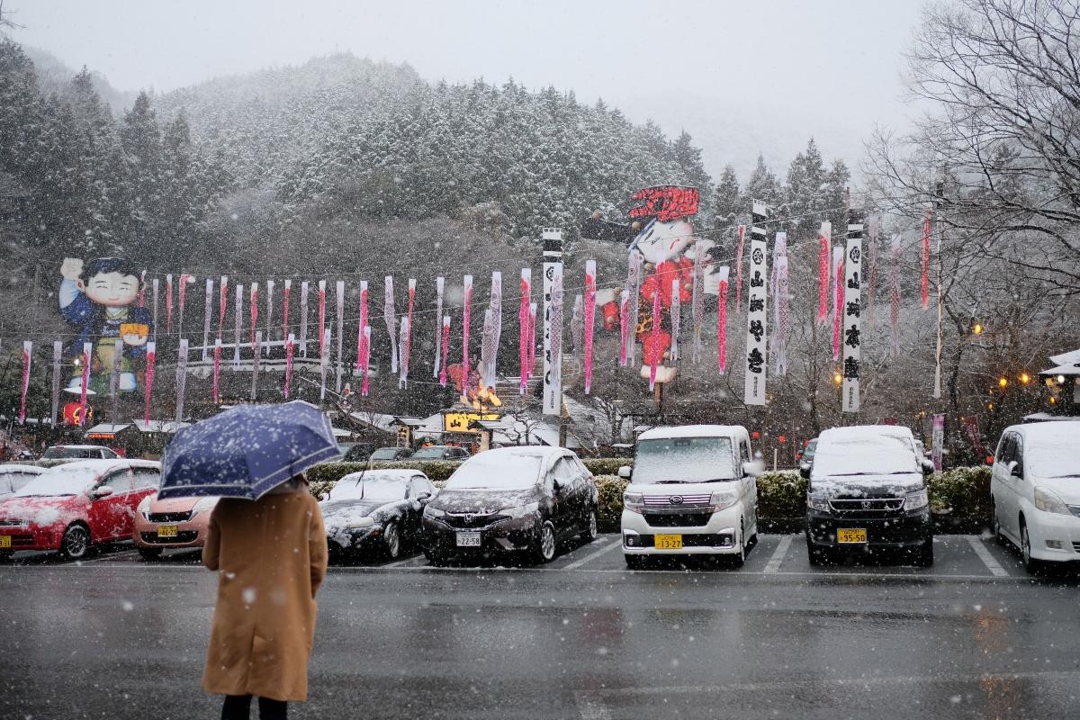 下関市立大学韓国人留学生の우종호(ウ ジョンホ)くんと山大学・優紀ちゃんと山賊食って来ました!美しい雪景色に魅力的な動画撮影が出来て大満足!