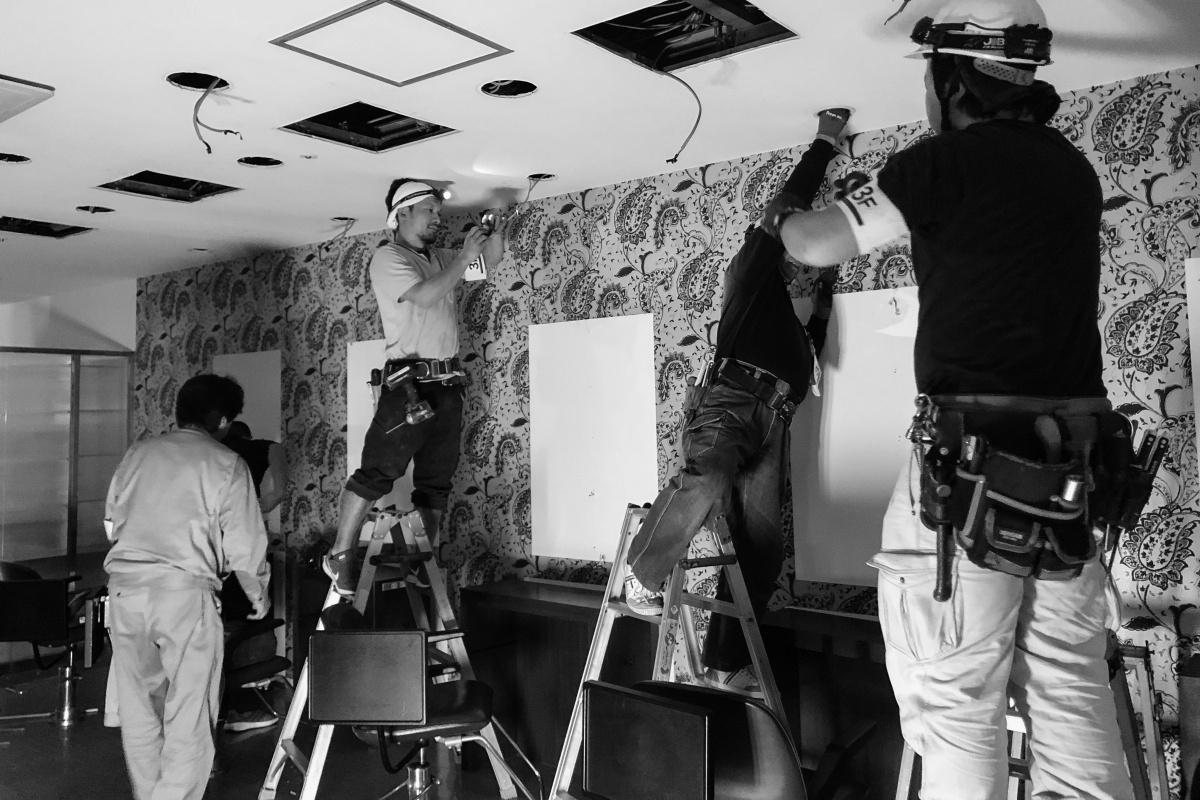 下関で多店舗展開している美容室「Emi シーモール店」リニューアル工事着工!