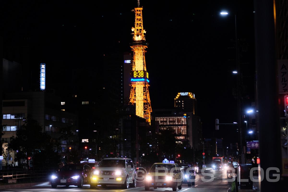 インバウンドツアー北海道編!ひとり夜のカメラさんぽでさっぽろテレビ塔と札幌市時計台(Vol.2)