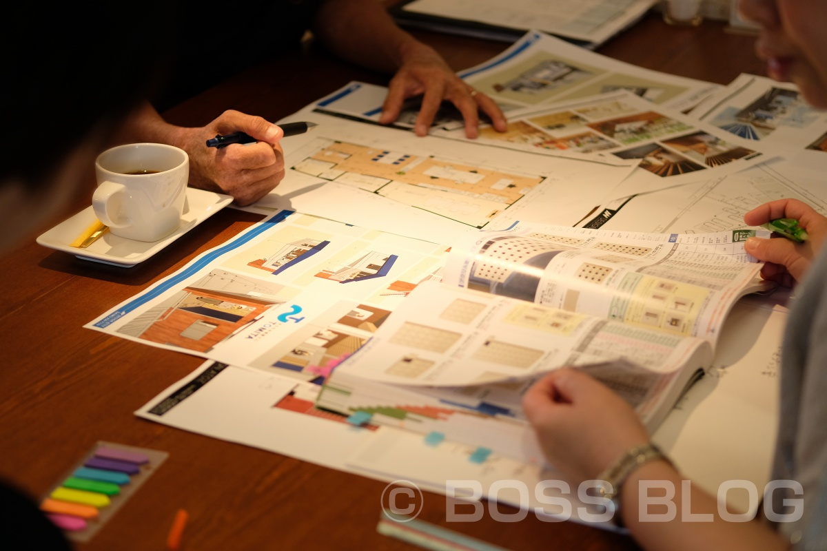 先日のヒアリングを元にオフィスデザイン打ち合わせ「有限会社 冨田工務店」