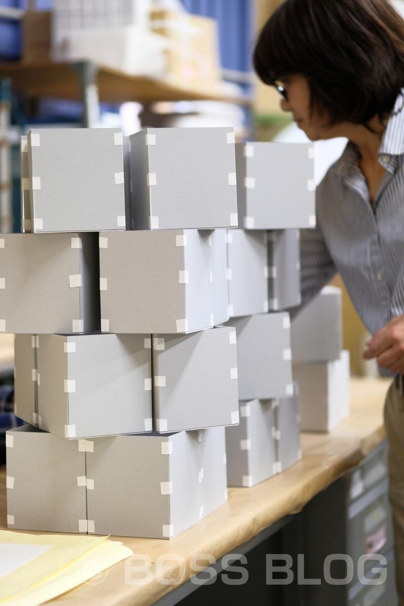 家紋萩焼スタンダード版紙箱パッケージデザインの打ち合わせ