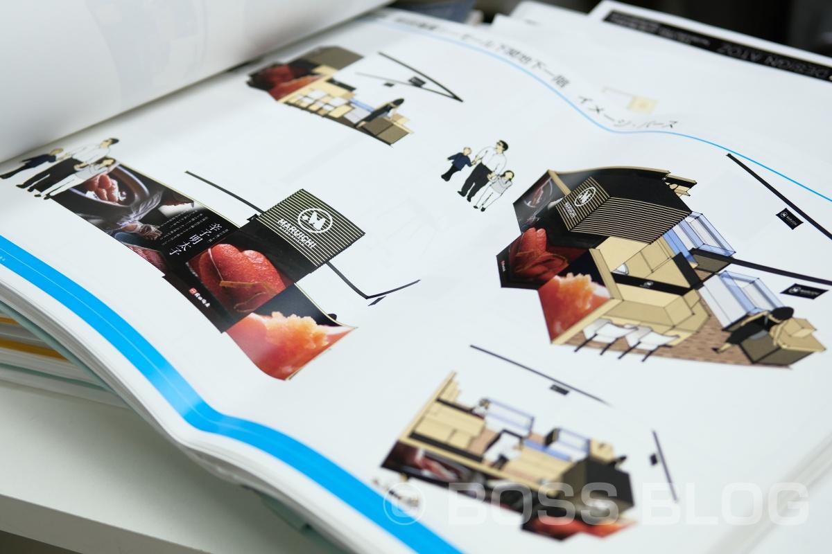 壁一面にフォトシートデザインするための明太子撮影「前田海産」