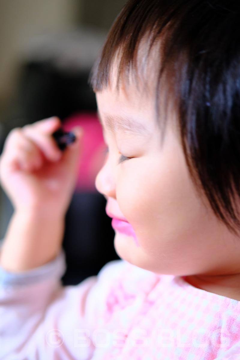 「初めてのお化粧」って撮ってみたかった(笑)