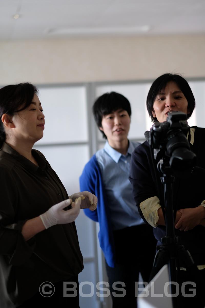 辛子明太子専門店MARUICHI(前田海産さん)のリーフレット撮影中!