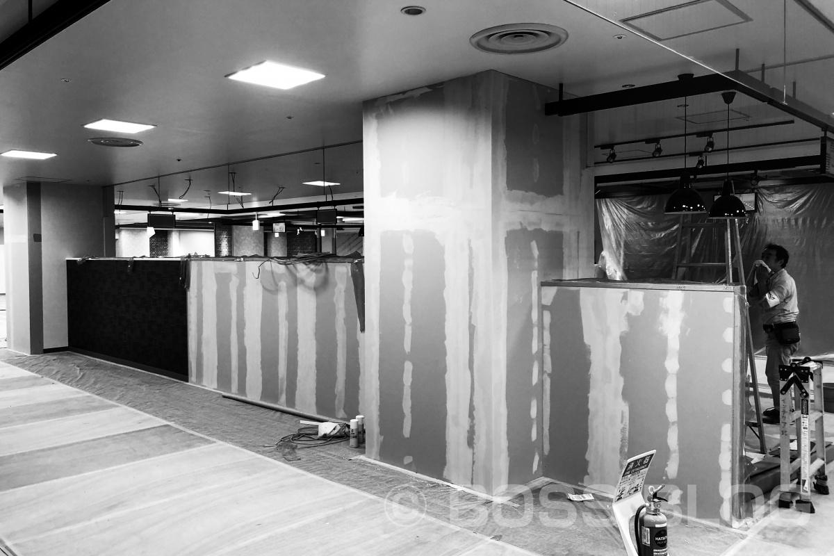 連日シーモール地下で明太子の専門店 前田海産さんの新店舗工事中