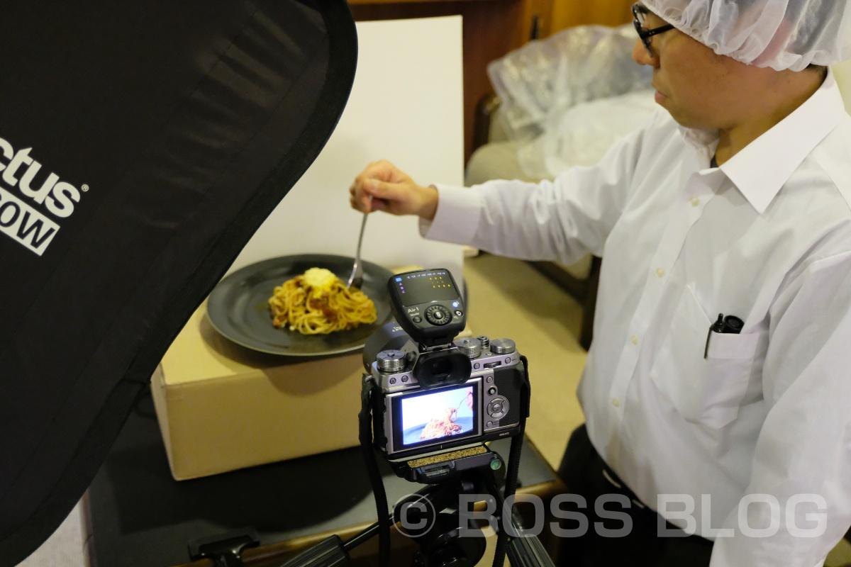 本日もひとり紀信が朝から4時間掛けて三度目の撮影!有限会社 木嶋製麺所